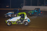 SHELLHAMMERS SPEEDWAY LEESPORT PA 270 WINGLESS MICRO SPRINTS & SLINGSHOTS 9-24-2014-9853